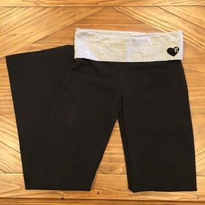Victoria Secret long yoga pants with rolltop band
